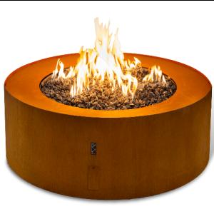 Planika Galio Star Corten - Bespoke fire and flue
